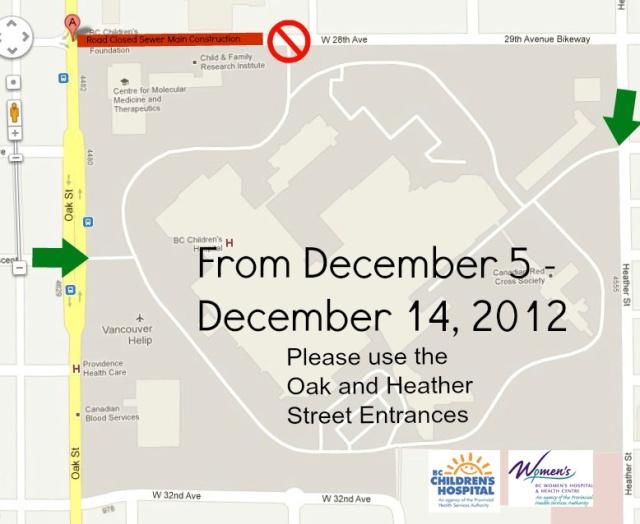 Oak Street Campus Construction Notice