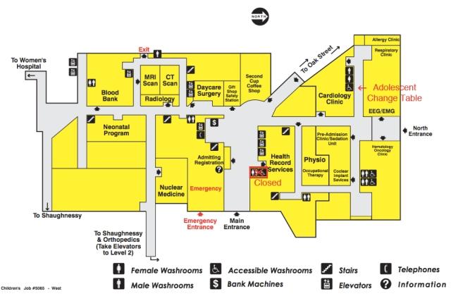 washroom map